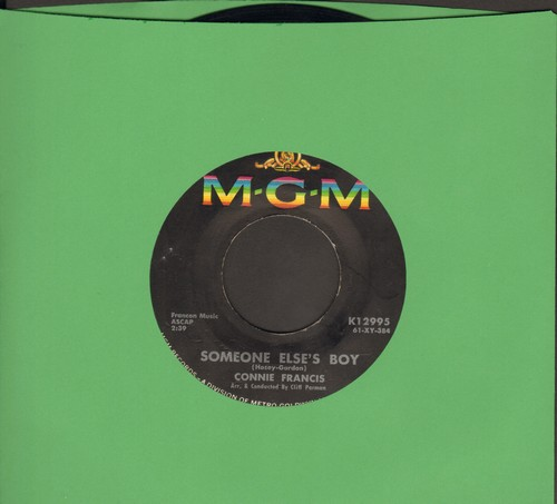 Francis, Connie - Someone Else's Boy (Schoener fremder Mann)/Breakin' In A Brand New Broken Heart  - VG7/ - 45 rpm Records
