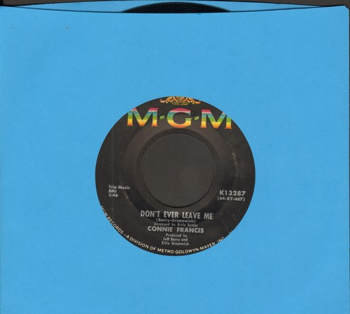 Francis, Connie - Don't Break The Heart That Loves You (Tu mir nicht weh)/Drop It, Joe  - EX8/ - 45 rpm Records