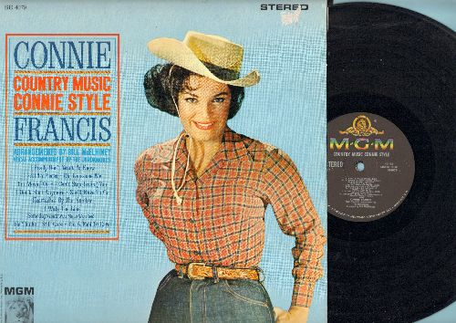 Francis, Connie - Country Music Connie Style: I Fall To Pieces, I Really Don't Want To Know, I Walk The Line, Heartaches By The Number, I Can't Stop Loving You (Vinyl STEREO LP record) - NM9/EX8 - LP Records