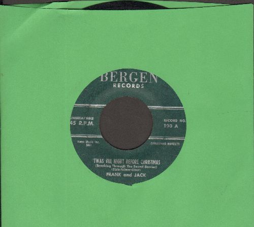 Frank & Jack - Jingle Bells/'Twas The Night Before Christmas (RARE vintage Novelty 2-sider) - VG7/ - 45 rpm Records