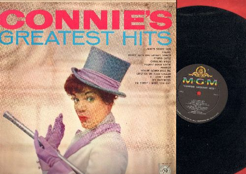 Francis, Connie - Connie's Greatest Hits: Who's Sorry Now, My Happiness, Stupid Cupid, Frankie, If I Didn't Care, Lipstick On Your Color (Vinyl MONO LP record, less common early cover!) - NM9/EX8 - LP Records