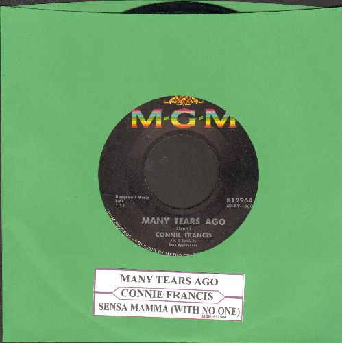 Francis, Connie - Many Tears Ago/Senza Mamma (with juke box label) - NM9/ - 45 rpm Records