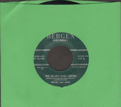 Frank And Jack - Twas The Night Before Christmas (Breaking Through The Sound Barrier)/Jingle Bells (From The Sound Track)(RARE Cut-In Novelty 2-sider!) - EX8/ - 45 rpm Records