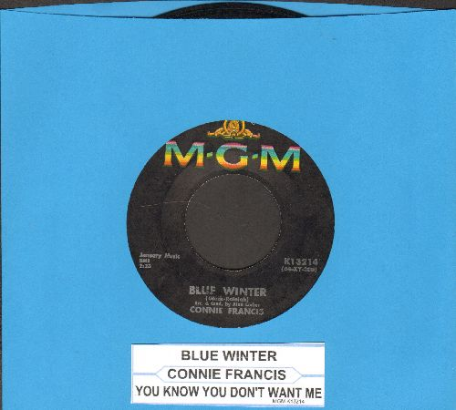 Francis, Connie - Blue Winter/You Know You Don't Want Me (with juke box label) - VG7/ - 45 rpm Records