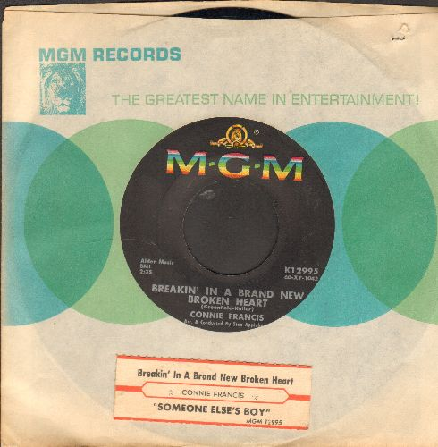 Francis, Connie - Someone Else's Boy (Schoener fremder Mann)/Breakin' In A Brand New Broken Heart (with with juke box label and MGM company sleeve) - NM9/ - 45 rpm Records