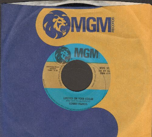 Francis, Connie - Mama/Lipstick On Your Collar (double-hit re-issue with MGM company sleeve) - NM9/ - 45 rpm Records