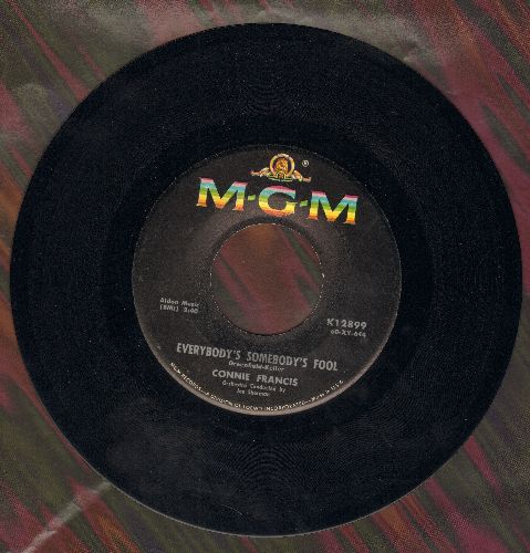 Francis, Connie - Everybody's Somebody's Fool (Die Liebe ist ein seltsames Spiel)/Jealous Of You - EX8/ - 45 rpm Records
