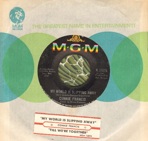 Francis, Connie - My World Is Slipping Away/Till We're Together (with MGM company sleeve and juke box label) - M10/ - 45 rpm Records