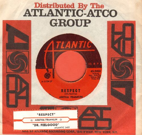 Franklin, Aretha - R-E-S-P-E-C-T (PARTY FAVORITE!)/Dr. Feelgood (with Atlantic company sleeve and juke box label) - NM9/ - 45 rpm Records
