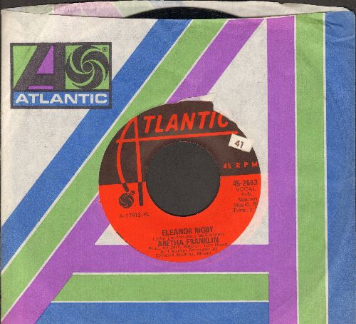 Franklin, Aretha - Eleanor Rigby/It Ain't Fair (with Atlantic company sleeve) - EX8/ - 45 rpm Records
