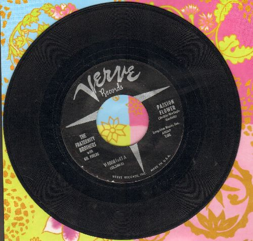 Fraternity Brothers - Passion Flower/A Nobody Like Me - EX8/ - 45 rpm Records