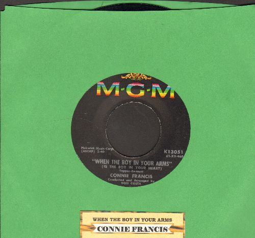 Francis, Connie - When The Boy In Your Arms (Is The Boy In Your Heart)/Baby's First Christmas (with juke box label) - EX8/ - 45 rpm Records