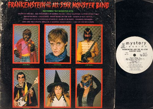 Frankenstein & The All-Star Monster Band - Frankenstein & The All-Star Monster Band: Midnight Movies, Nightmares In The Sun, Queen Of Halloween, Last Of The Wild Ones (Vinyl LP record, DJ Pressing) - NM9/VG6 - LP Records