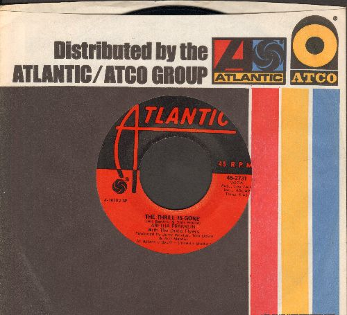 Franklin, Aretha - The Thrill Is Gone/Spirit In The Dark (with Atlantic company sleeve) - EX8/ - 45 rpm Records