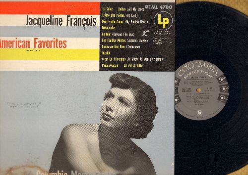 Francois, Jaqueline - American Favorites: La Mer, Jezebel, La Vie En Rose, Padam-Padam, L'Ame Des Poetes (Vinyl MONO LP record, US Pressing, sung in French) - EX8/EX8 - LP Records