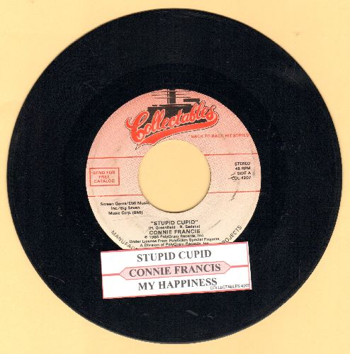 Francis, Connie - Stupid Cupid/My Heart Has A Mind Of Its Own (double-hit re-issue with juke box label) - EX8/ - 45 rpm Records