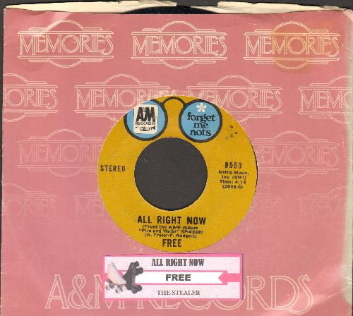 Free - All Right Now/The Stealer (double-hit re-issue with company sleeve) - EX8/ - 45 rpm Records