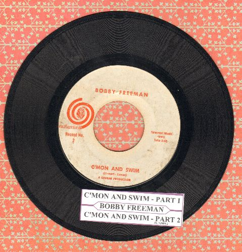Freeman, Bobby - C'mon And Swim (Parts 1+2) (with juke box label) - VG7/ - 45 rpm Records