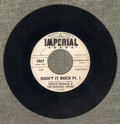 Freeman, Evelyn & The Exciting Voices - Didn't It Rock (Parts 1 + 2) (DJ advance pressing) - EX8/ - 45 rpm Records