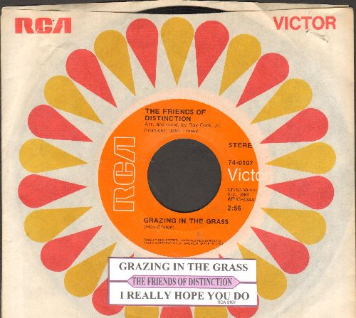 Friends Of Distinction - Grazing In The Grass/I Really Hope You Do (with juke box label and RCA company sleeve) - NM9/ - 45 rpm Records
