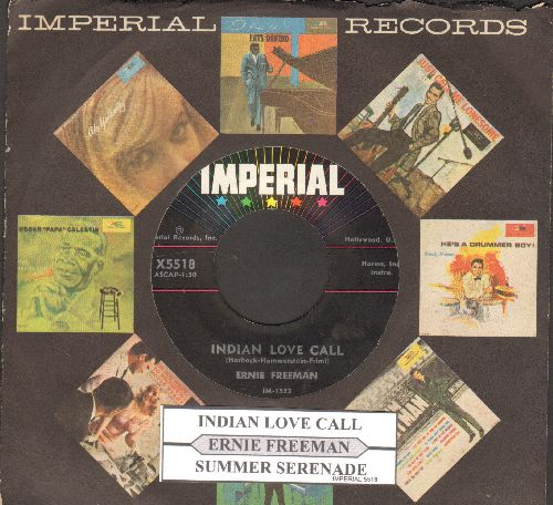 Freeman, Ernie - Indian Love Call/Summer Serenade (with juke box label and Imperial company sleeve) - NM9/ - 45 rpm Records