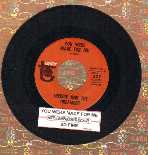 Freddie & The Dreamers - You Were Made For Me/So Fine by The Beat Merchants (with juke box label) - EX8/ - 45 rpm Records