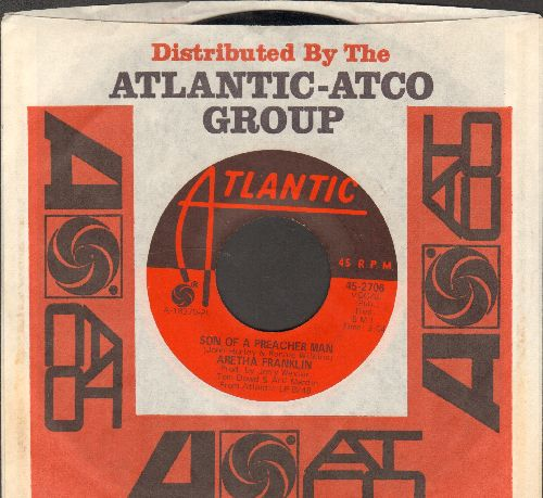 Franklin, Aretha - Son Of A Preacher Man/Call Me (with Atlantic company sleeve) - EX8/ - 45 rpm Records