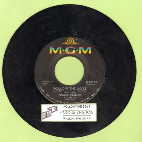 Francis, Connie - Follow The Boys/Waiting For Billy (with juke box label) - EX8/ - 45 rpm Records