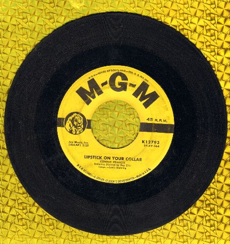 Francis, Connie - Lipstick On Your Collar/Frankie (yellow label first issue)(wol/sol) - VG6/ - 45 rpm Records