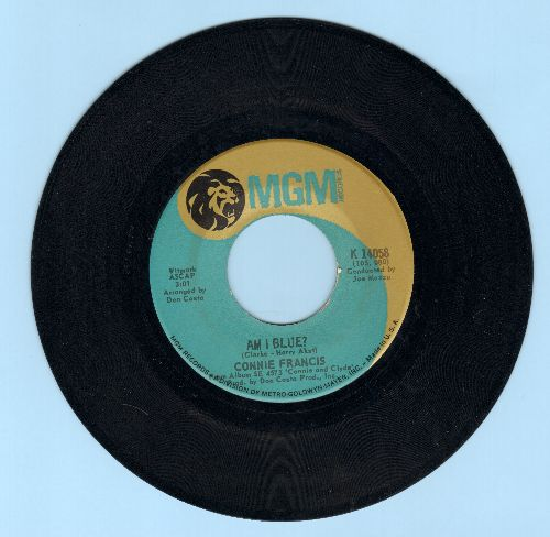 Francis, Connie - Am I Blue?/Gone Like The Wind  - EX8/ - 45 rpm Records