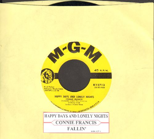 Francis, Connie - Happy Days And Lonely Nights/Fallin' - NM9/ - 45 rpm Records