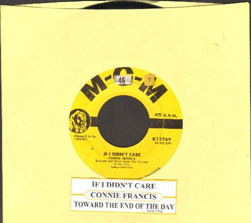 Francis, Connie - If I Didn't Care/Toward The End Of The Day (yeallow label first pressing with juke box label) - EX8/ - 45 rpm Records