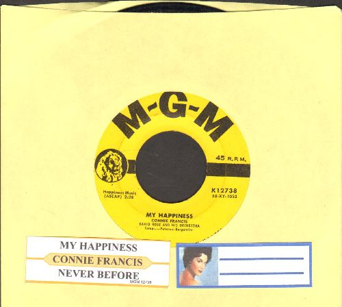 Francis, Connie - My Happiness/Never Before (yellow label first issue with juke box label) - VG7/ - 45 rpm Records