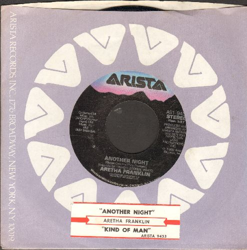 Franklin, Aretha - Another Night (Without You)/Kind Of Man (with juke box label and Arista company sleeve) - EX8/ - 45 rpm Records