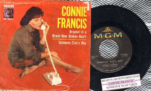 Francis, Connie - Someone Else's Boy (Schoener fremder Mann)/Breakin' In A Brand New Broken Heart (with picture sleeve and juke box label) - NM9/VG7 - 45 rpm Records