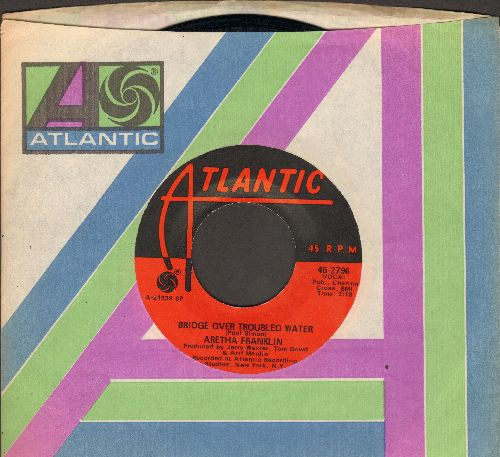 Franklin, Aretha - Bridge Over Troubled Water/Brand New Me (with Atlantic company sleeve)(bb) - NM9/ - 45 rpm Records