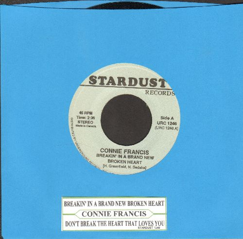 Francis, Connie - Breakin' In A Brand New Broken Heart/Don't Break The Heart That Loves You (double-hit re-issue with juke box label) - NM9/ - 45 rpm Records