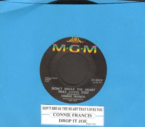 Francis, Connie - Don't Break The Heart That Loves You (Tu mir nicht weh)/Drop It, Joe (with juke box label) - EX8/ - 45 rpm Records
