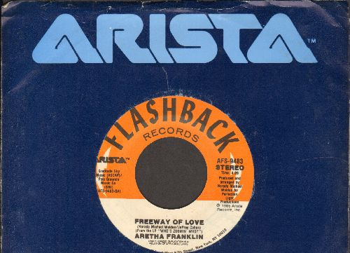 Franklin, Aretha - Freeway Of Love/Jump To It (double-hit re-issue with Arista company sleeve) - NM9/ - 45 rpm Records