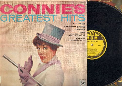 Francis, Connie - Connie's Greatest Hits: Who's Sorry Now, My Happiness, Stupid Cupid, Frankie, If I Didn't Care, Lipstick On Your Color (Vinyl MONO LP record, Yellow Label with less common early cover!) - EX8/EX8 - LP Records