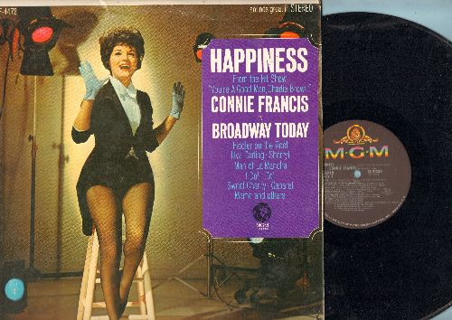 Francis, Connie - Happiness - Connie Francis On Broadway: Together Forever/My Cup Runneth Over, Willkommen/Cabaret, Fiddler On The Roof/To Life, The Impossible Dream (Vinyl STEREO LP record) - NM9/VG7 - LP Records