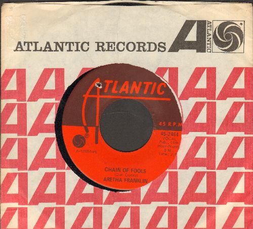 Franklin, Aretha - Chain Of Fools/Prove It (with Atlantic company sleeve) (bb) - NM9/ - 45 rpm Records