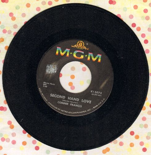 Francis, Connie - Second Hand Love/Gonna Git That Man  - VG7/ - 45 rpm Records