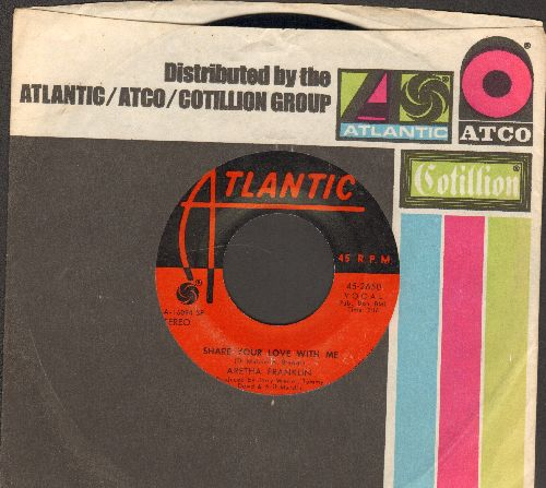 Franklin, Aretha - Pledging My Love/The Clock/Share Your Love With Me (with Atlantic company sleeve) - EX8/ - 45 rpm Records