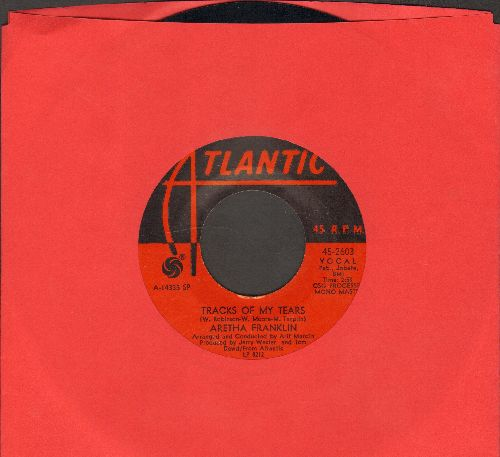 Franklin, Aretha - Tracks Of My Tears/The Weight - EX8/ - 45 rpm Records