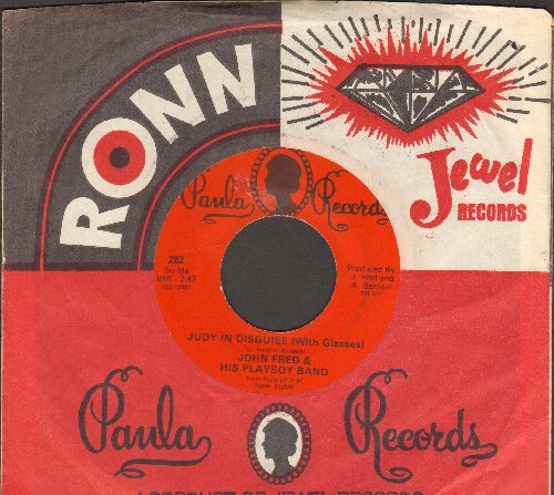 Fred, John & His Playboy Band - Judy In Disguise (With Glasses)/When The Lights Go Out (red label with Paula company sleeve) - NM9/ - 45 rpm Records