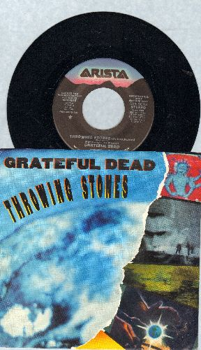 Grateful Dead - Throwing Stones (Ashes Ashes) (double-A-sided DJ advance pressing with picture sleeve) - NM9/EX8 - 45 rpm Records