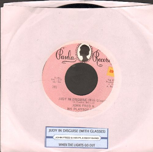 Fred, John & His Playboy Band - Judy In Disguise (With Glasses)/When The Lights Go Out (with juke box label) - NM9/ - 45 rpm Records