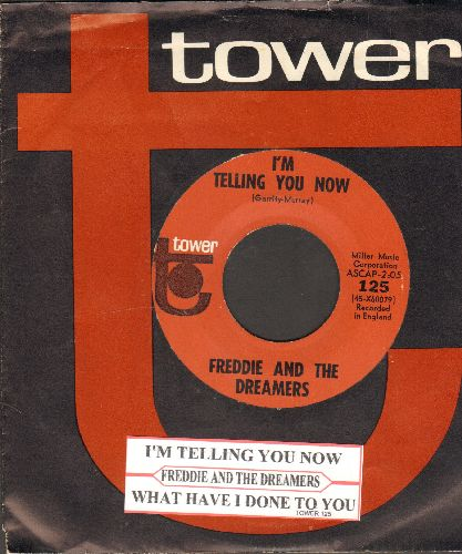 Freddie & The Dreamers - I'm Telling You Now/What Have I Done To You (with juke box label and RARE Tower company sleeve) - NM9/ - 45 rpm Records
