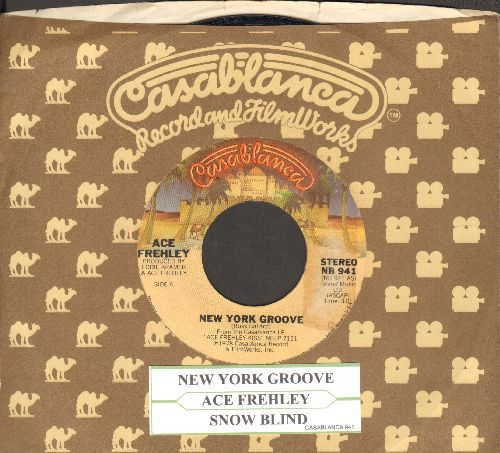 Frehley, Ace - New York Groove/Snow Blind (with juke box label and Casablanca company sleeve) - EX8/ - 45 rpm Records